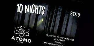 Teaser de Atomo Games sobre el juego de mesa 10 nights