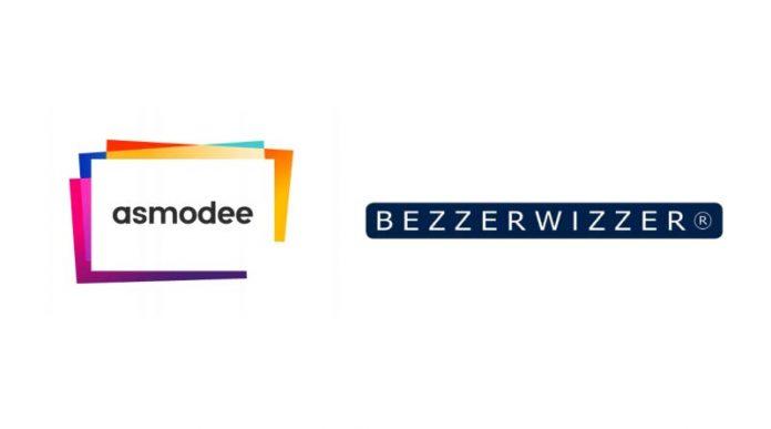 Logotipos del grupo Asmodee y del estudio Bezzerwizzer