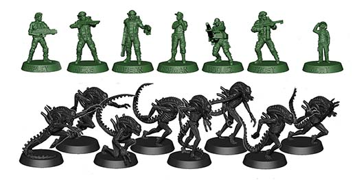 Aliens: Another Glorious Day in the Corps miniaturas