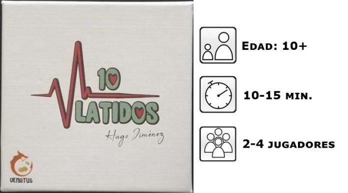 Datos del juego de cartas 10 latidos