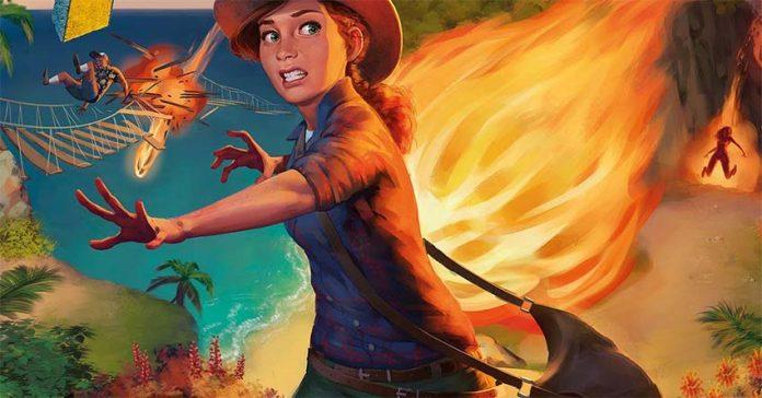 Ilustración de la portada de La isla del fuego: La maldición de Vulkar