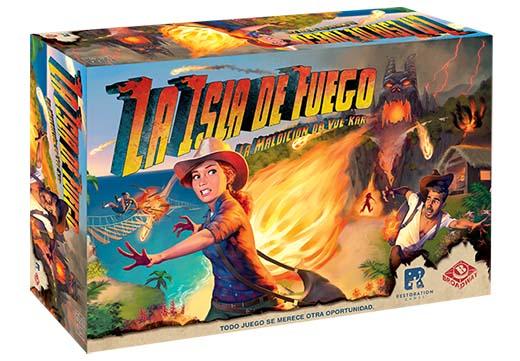 portada de La isla del fuego: La maldición de Vulkar