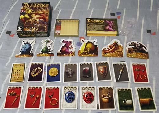 Componentes de El Tesoro de los Dragones