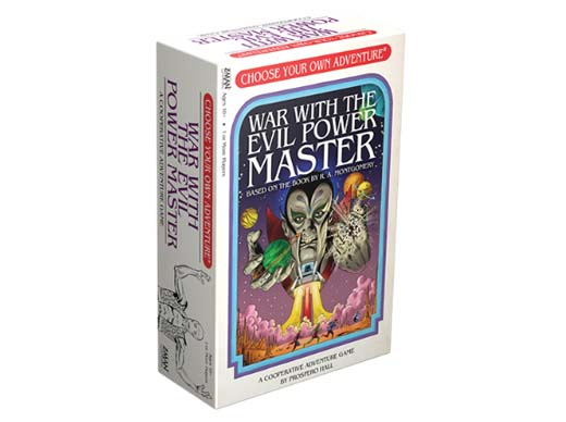 Portada del juego de mesa War with the Evil Power Master