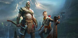 Detalle de la portada de God of War: The Card Game