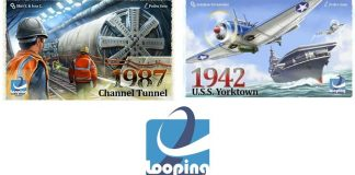Portadas de 1987 Channel Tunnel y 1942 USS Yorktown de looping games