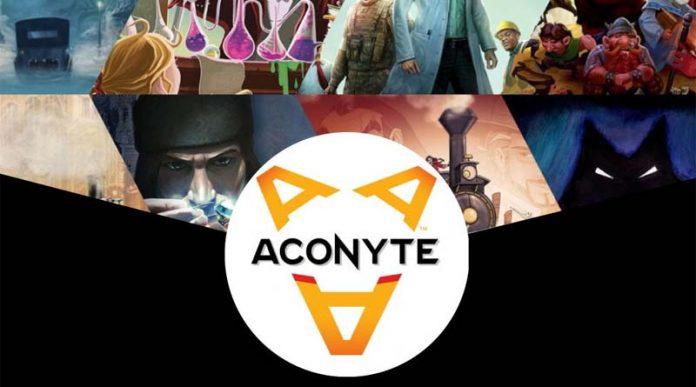 Logo de Aconyte, la nueva línea editorial de asmodee