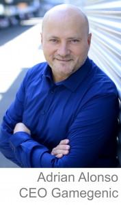 Adrian Alonso CEO de Gamegenic