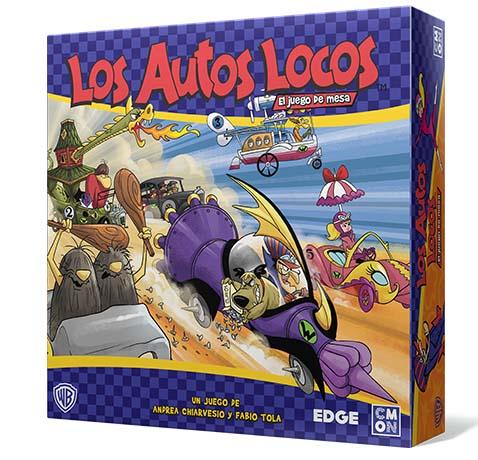 Portada de la edición en castellano del juego de tablero de los Autos Locos