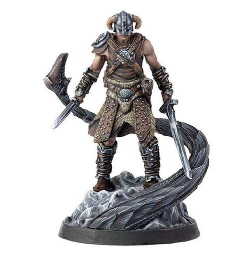 Miniatura de dragonborn de The Elder Scrolls: Call to Arms