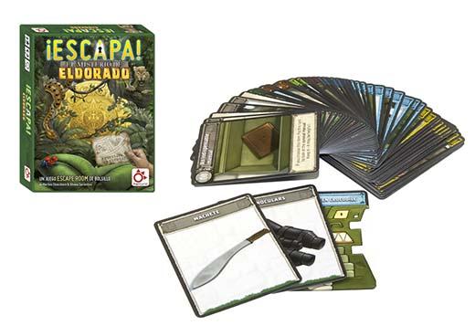 Componentes del juego ¡Escapa! El Misterio de El Dorado