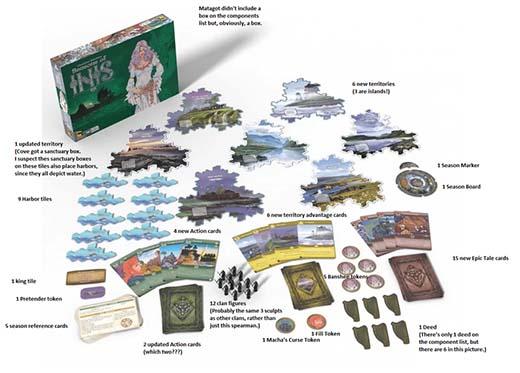 Componentes de la expansión de Inis Seasons of Inis