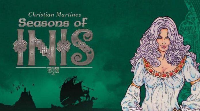 Portada de la expansión de Inis Seasons of Inis
