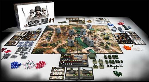 Componentes del juego de mesa Company of heroes