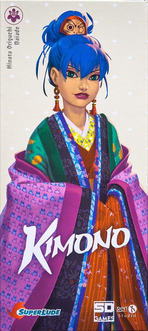 Portada de la edición en castellano de SD Games del juego de mesa Kimono