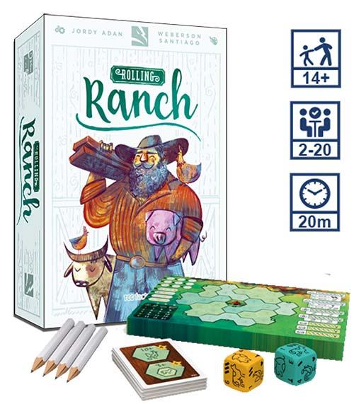 Portada y componentes de Rolling Ranch
