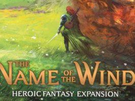 Portada de la expansión El nombre del viento para el juego de cartas Call of the Wind