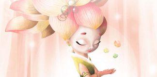 Detalle de la portaeda de Chakra el juego de mesa editado por Mercurio Distribuciones