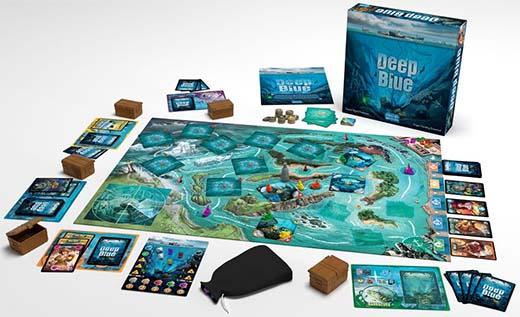 componentes del juego de mesa deep blue
