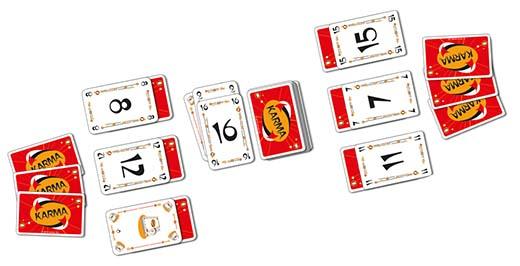 Cartas del juego de mercurio Karma