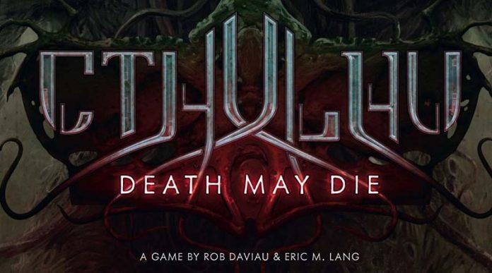 Logotipo del juego de tablero Cthulhu: Death May Die