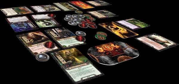 Componentes de El señor de los anillos: El juego e cartas