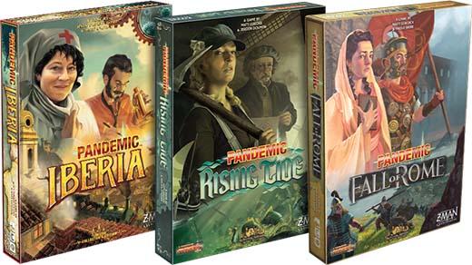 Portadas de los juegos de la serie survival de Pandemic