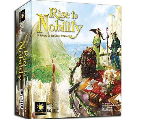 Portada del juego de mesa Rise to Nobility
