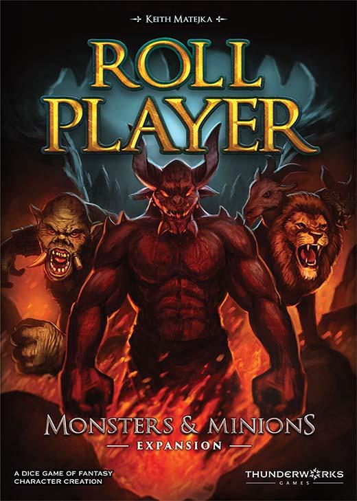 Portada de la expansión para Roll Player, Monstruos y esbirros