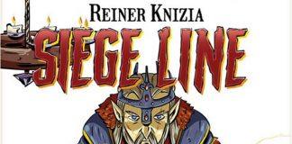 Logotipo y detalle de la portada de Siege Line