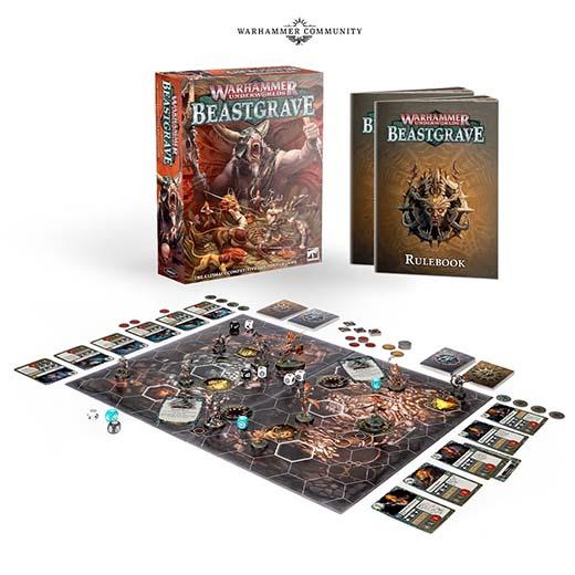 Componentes de Warhammer Underworlds: Beastgrave