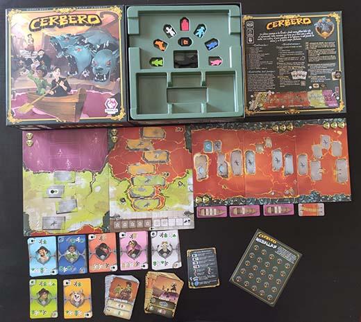 Componentes del juego Cerbero