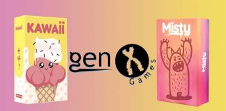 Kawaii y Misty, los nuevos juegos de mesa familiares de Genx Games