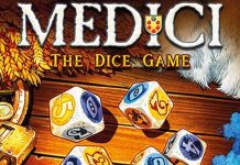 Detalle de la portada de Medici the dice game