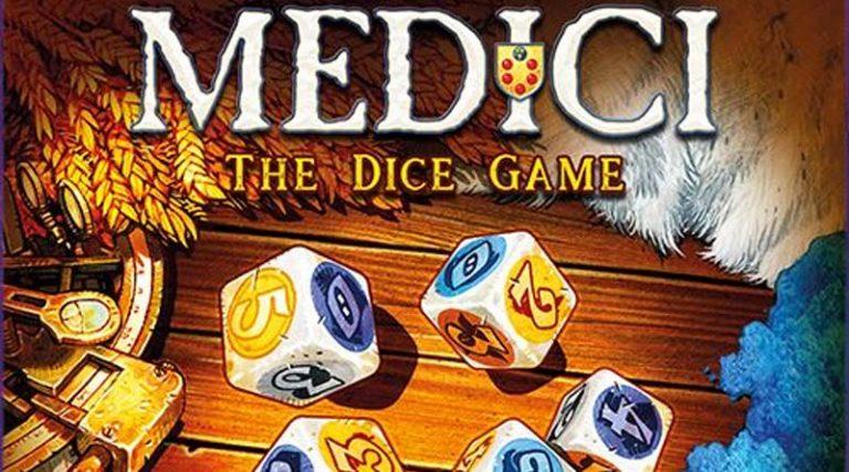 Detalle de la portada de Medici the dice game