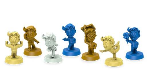 Miniaturas de Fallout Shelter el juego de mesa