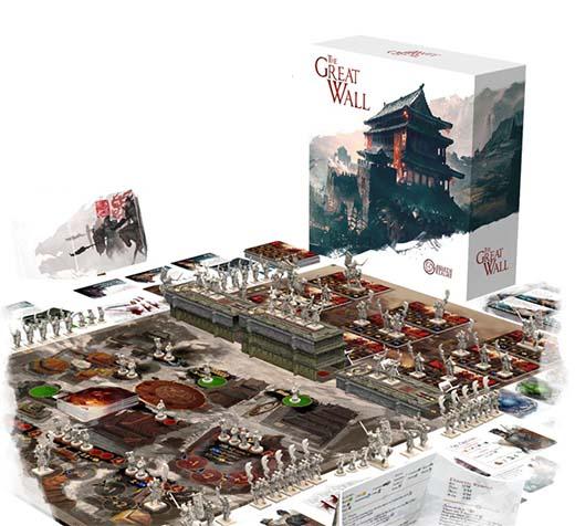 partida en curso del juego de tablero The Great Wall