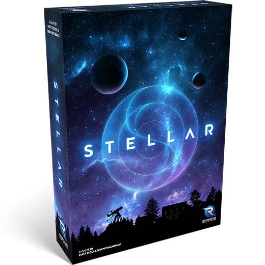 Portada del juego de tablero Stellar de Renegade Games