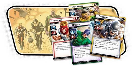 Cartas de los Villanos de la brigada de demolición de Marvel Champions: El Juego de Cartas
