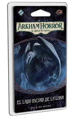 portada de El lado oscuro de la luna tercer pack de mitos de la campaña devoradores de sueños de Arkham horror