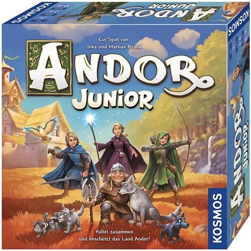 Portada del juego de mesa Andor Junior