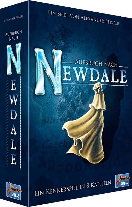 Portada en alemán del juego de mesa expedition to newdale