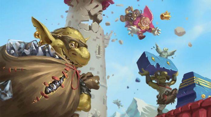 arte gráfico del juego de mesa flyin goblin en castellano