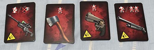 Cartas de arma de Silenze Zombie City