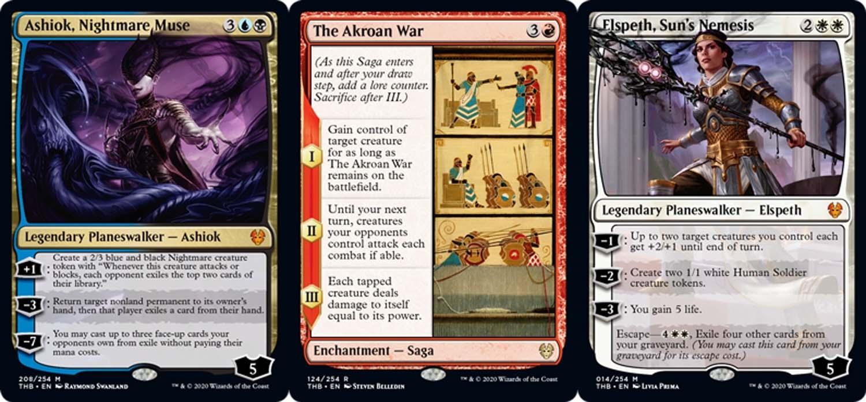 Cartas del nuevo set de Magic the gathering Theos Beyond Death