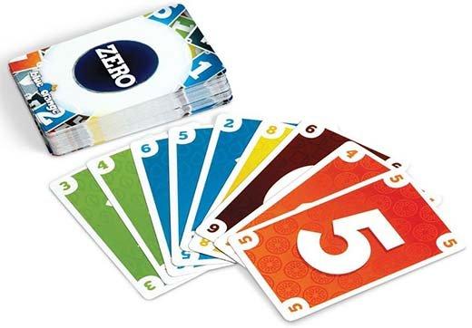 Cartas del juego de mesa Zero de la edición de Blue Orange