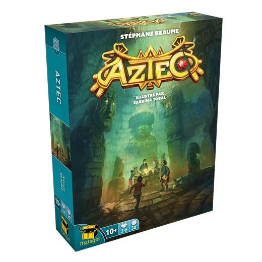 Portada del juego de mesa Aztec