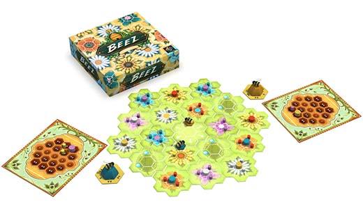 Componentes del juego de mesa Beez