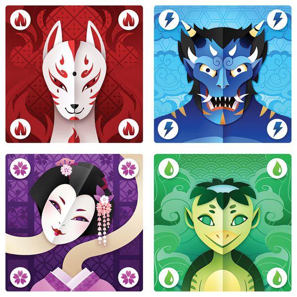 Arte de las cartas del juego Yōkai