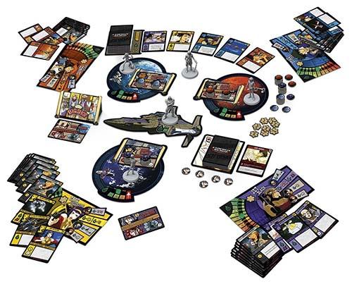 Componentes del juego de tablero cowboy bebop: space serenade